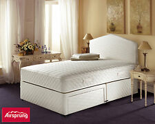 AIRSPRUNG Ortho Supercoil Mattress & Sprung Edge Divan Set & Storage Options
