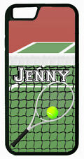 PERSONALIZED RUBBER CASE FOR iPHONE 6 6s Plus TENNIS PLAYER