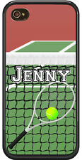 PERSONALIZED RUBBER CASE FOR iPHONE 4 4S 5 5S 5C TENNIS PLAYER