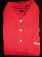 NEW MEN'S PING ALBATROSS PERFORMANCE Golf Polo Shirt, RED, PICK A SIZE
