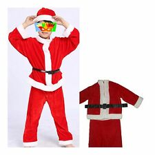Kids Christmas Costume Santa Claus boys&girls Lovely Red Suit Party Children #1