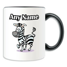 Personalised Gift Zebra Mug Money Box Name Message Coffee Cup Marty Madagascar
