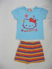 Pyjamas Girls Summer Short (sz 8-14) Pjs Blue Hello Kitty Sz 8 10 12 14