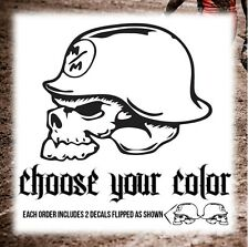 2 x METAL MULISHA DECALS / STICKERS. Choose your color and size! Ride on!