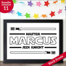 Christmas Birthday Xmas Gifts - Star Wars Jedi Knight Presents - PERSONALISED