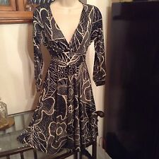 BEAUTIFUL STUNNING QUALITY PEPE JEANS DRESS PERFECT SIZE S BLACK AND CREAM
