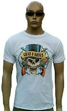Rare AMPLIFIED Vintage GNR Size n Roses Pirate Skull Rock Star T-Shirt S to XXL