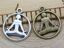 10/40/200pcs Tibetan Silver Beautiful Yoga Athletes Charms Pendant DIY 23x20mm