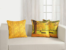 Printed Polyester Colorful Reversible Silk Cushion Covers 45x45 Pack of 5