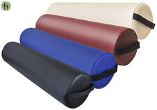 "Massage Bolster + Full Round Pillow + 25""x6""x6"" + Spa Cushion + 4 Colors"