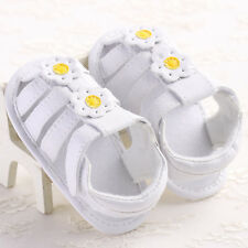 Newborn Baby Girl Toddler Soft Shoes Infant Crib White Sandals Prewalker 3 Size