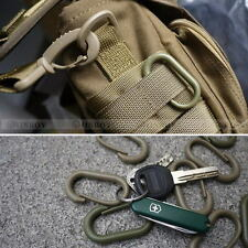10 Pcs Locking U-Ring Carabiner Buckle Keychain Ring For MOLLE Webbing Backpack