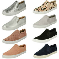 LADIES CLARKS SOFT LEATHER FLAT SLIP ON CASUAL SPORTY PUMPS SHOES GLOVE PUPPET