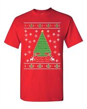Periodic Tree Table Of Elements Science Ugly Christmas DT Adult T-Shirt Tee