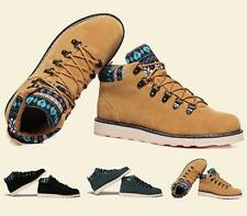 Mens winter Warm Ankle Boots suede sneaker rivet high top casual Military Shoes