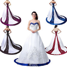 FairOnly New Stock A-Line Wedding Dress Bridal Gown Size 6 8 10 12 14 16 18++