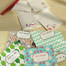 Molang Sticky It Note Type Bookmarks Index Post-it Cute Kawaii Note Memo Pad Tab