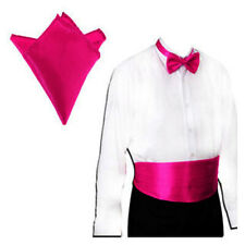 Adjustable Cummerbund Pre-Tied Bow Tie Hanky Set Wedding Prom Tuxedo Formal Suit