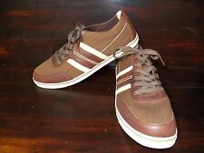 New Mens UGG Australia Bryson Grizzly Brown Lace Up Canvas Leather Sneaker Shoe