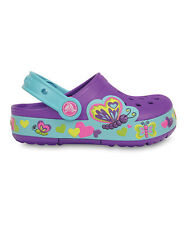 NEW Crocs CrocsLights Butterfly Clog Girls Shoes SZ 8 9 10 11 12 13 1 2 3 Purple