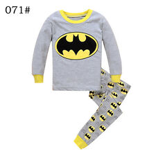 """Batman "" Babys Boys Toddler Kids Pajamas Gray Sleepwear Children Pyjamas Set"