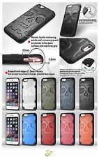 for Apple iPhone 6 6S Plus Hybrid SKULL Rubber Rugged Hard Protective Case Cover