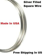 Sterling Silver Filled Square Wire Half Hard Choose Gauge 18 ~ 24 Ga / 1 OZ Coil