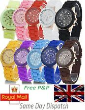 Silicone Quartz Jelly Analog Wrist Watch for Boys Girls Mens Womens Ladies -UK