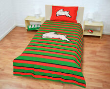 Official NRL South Sydney Rabbitohs Double-Sided Quilt Cover Set