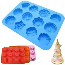 3D Chocolate Candy Jelly Fondant Cakes Tool Silicone Mold Baking Pan Bakeware GL