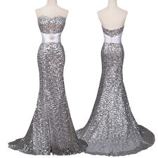 Sequins GK Formal Evening Long Wedding Prom Gown Bridesmaid Dress Mermaid Dress