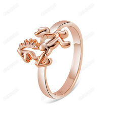 Fashion Unisex Gold Horse Cocktail Ring 18K Rose Gold Plated Jewelry SZ 6,7,8,9