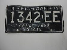1979 MICHIGAN STATE LICENSE PLATE 1342-EE FORD CHEVY PONTIAC DODGE GREAT LAKE