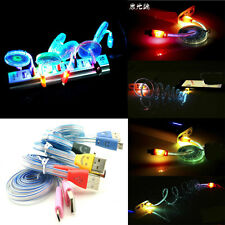 LED USB Data Sync Charger Charging Cable Line Cord for Android&iPhone4s/5s/6/6p