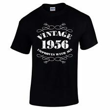GIFT BOXED Vintage 1956 60th Birthday Present Gift Retro Old Funny Mens T Shirt