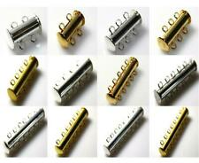 2 3 4 5 6 7 STRAND MAGNETIC SLIDE LOCK CLASPS SILVER or GOLD PLATED