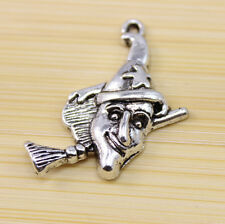 15/30/50 pcs wholesale Very lucky Witches broom Tibet silver charm pendant