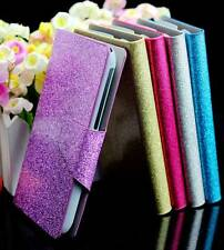 For HTC Desire S G12 S510E Bling Glittery PU Leather Flip Wallet Case Cover