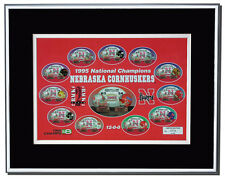 Nebraska Cornhuskers 1995 National Champions Framed Commemorative Print