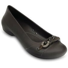 Crocs Gianna Flats Espresso DARK BROWN Women's casual Shoes classic slip on New