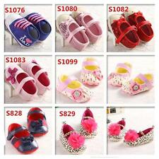 Cute Cartoon Bow Flowers Baby Girl Soft Sole Shoes Newborn-18M Toddler Shoes SH