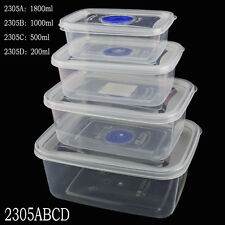 New Small Medium Large Size Plastic Clear Storage Food Box Container With Lid