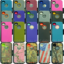 for IPhone 4/4S Protective Case Cover (Belt Holster fits Otterbox Defender)
