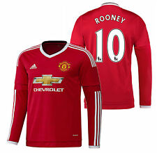 ADIDAS WAYNE ROONEY MANCHESTER UNITED LONG SLEEVE HOME JERSEY 2015/16