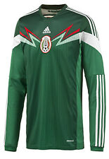 ADIDAS MEXICO LONG SLEEVE HOME JERSEY FIFA WORLD CUP BRAZIL 2014.