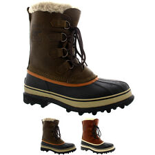 Mens Sorel Caribou WI Mid Calf Snow Winter Rain Fur Lined Leather Boot US 8-13
