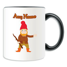 Personalised Gift Gnome Mug Money Box Cup Fairy Tale Name Message Hobbit Dwarf