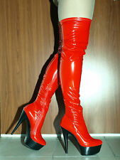 """LATEX RUBBER FETISH BOOTS SIZE 4-10- HEELS 6,5""""-15CM- PRODUCER- POLAND"""