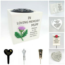 Mothers Day Memorial Plaques, Mum Tributes, Graveside Spikes, Remembrance Vase,