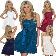 Ladies Bandeau Dress Empire dress Lace Cocktail Dress S 34 36 Party Wedding sexy